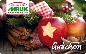 Neu: unsere Gutscheinkarte mit Weihnachtsmotiv
