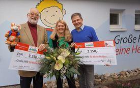 Großzügige Spende von Pflanzen Mauk für 'kleine Helden'