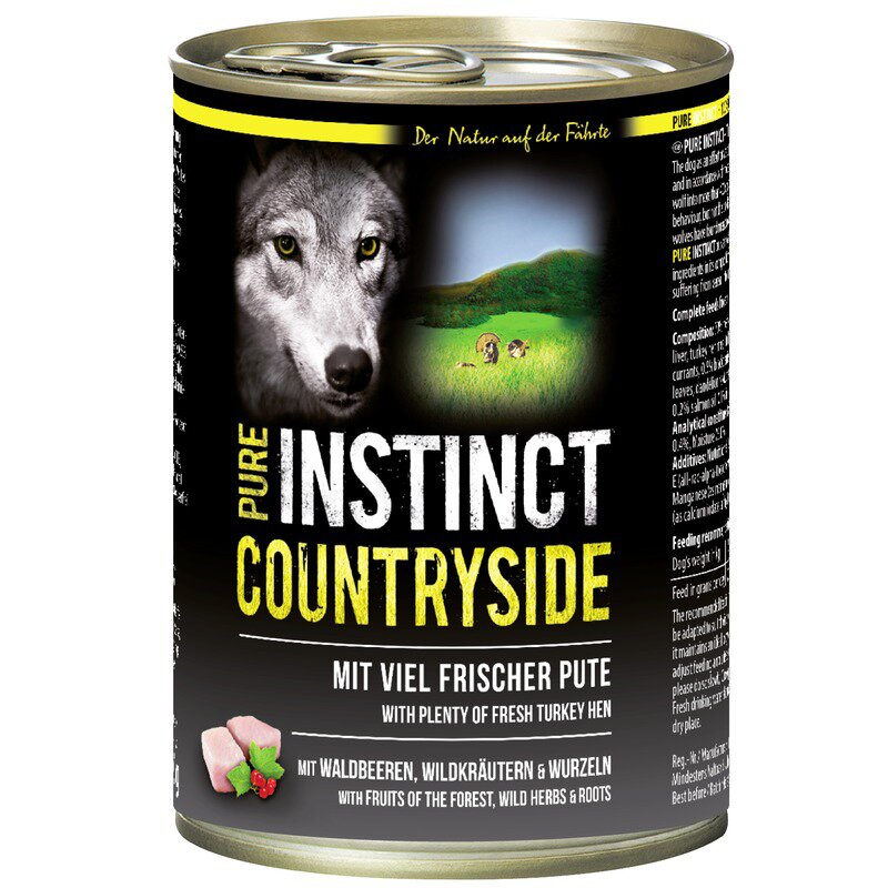 PURE INSTINCT Nassfutter mit Pute 400g (Countryside)