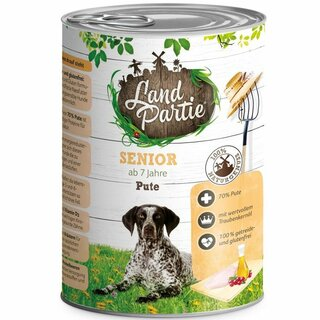 LandPartie Nassfutter Senior mit Pute 400g