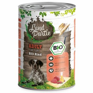 LandPartie Nassfutter Adult mit Rind 400g - Bio